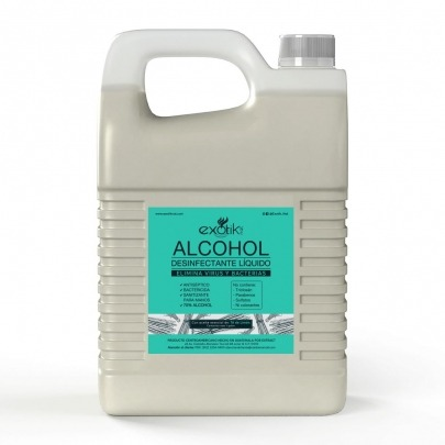 Alcohol Líquido para Desinfectar con Té de Limón 1 Galón Exotik Nat