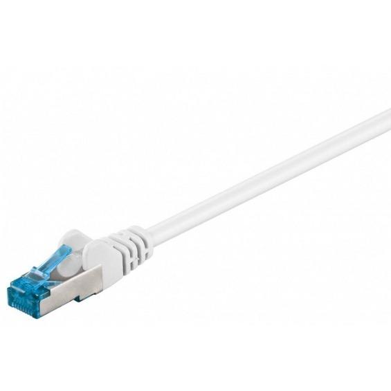 Cable de conexión S/FTP Cat6A LSZH blanco 0,25 metros