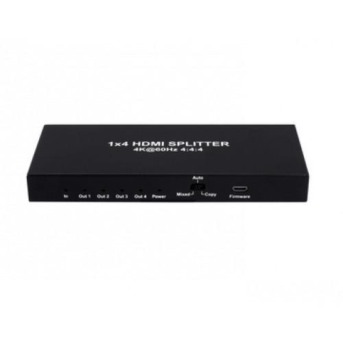 SPLITTER HDMI 2.0 1X4 4K 60Hz UHD, 18GB, HDR, EDID