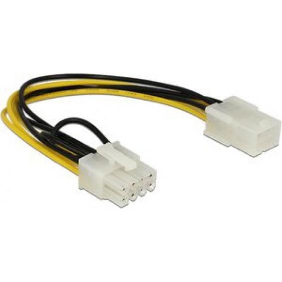 Cable de alimentación PCI Express 6 contactos hembra a 8 contactos macho 20 cm