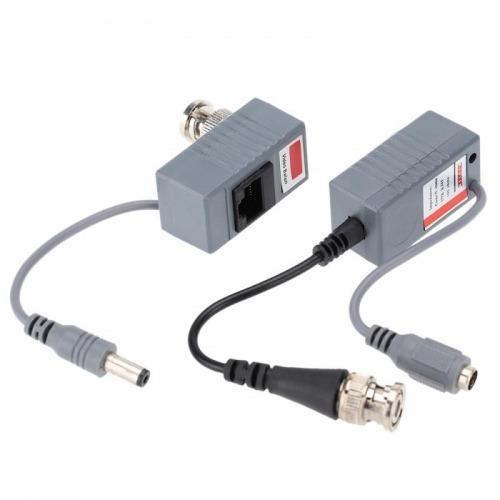 Kit Balun de video + alimentación CCTV por RJ45
