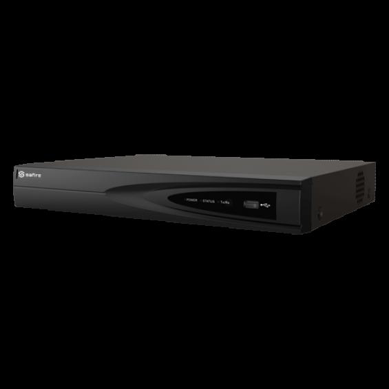 Videograbador 5n1 Safire - 16 CH HDTVI / HDCVI / AHD / CVBS / 18 IP - H.265 Pro+ - 1 CH Reconocimiento Facial - 4 CH Inteligencia Artificial - Admite 1 disco duro