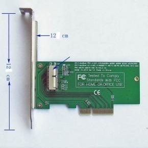 Tarjeta PCI Expres para discos PCIE de equipos Macbook