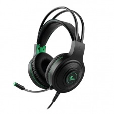 Xtech - Headset - Wired - XTH-560 - Insolense - Gaming - Color: Black with green accents -Connection type: 3.5mm (TRRS) Includes a 3.5mm female splitter adapter to dual 3.5mm plugs (TRS) - Supported p