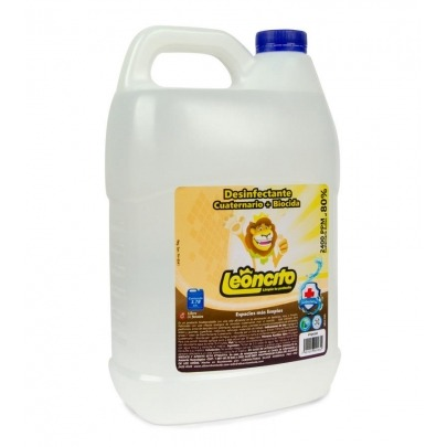 Desinfectante de Amonio Cuaternario y Biocida Marca Leoncito 3.78 Litros