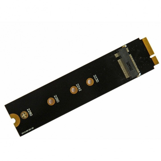 Adaptador de discos mini PCIe a PCIe para MacBook 2012