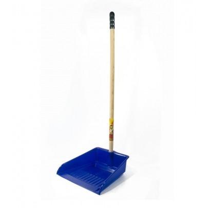 Recogedor para Basura de Plástico Color Azul Marca Leoncito