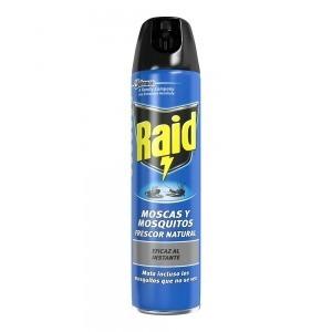 Insecticida Raid Moscas Mosquitos Fresco (600 ml)