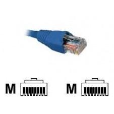 Nexxt - Cable de interconexión - RJ-45 (M) a RJ-45 (M) - 90 cm - UTP - CAT 5e - moldeado, trenzado - azul