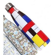 Botella deportiva/termo Cantel , Acero inoxidable, Portatil, color Figuras multicolor, medida 500 ml Pulgadas