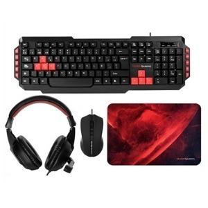 Pack Gaming Mars Gaming MRCP1 (4 Pcs) Negro Rojo