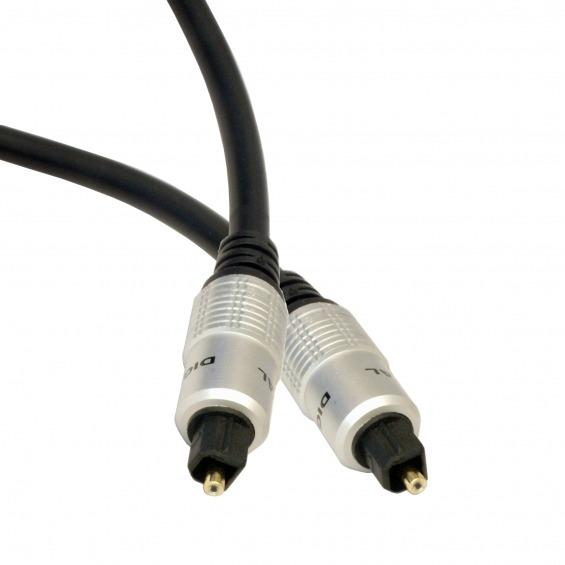 Cable óptico de audio con conectores Toslink de 2.0m