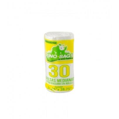 Bolsas para Basura Biodegradables Medianas 30 Unidades