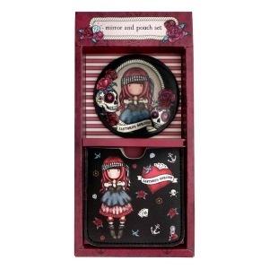 Espejo de Bolsillo Gorjuss Mary Rose Negro Granate