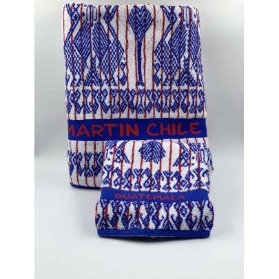 Toalla de Manos 100% Algodón Diseño Típico Multicolor Marca Cantel