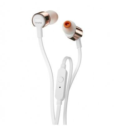 JBL T210 - Earphones with mic - in-ear - wired - 3.5 mm jack - gold