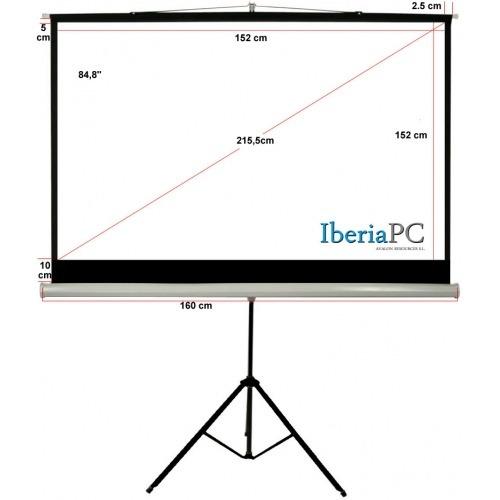 Pantalla Proyección de trípode de 84,8 y formato 1:1 de 1520 mm x 1520 mm
