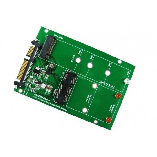 Adaptador SATA SSD a discos M2 y mSATA