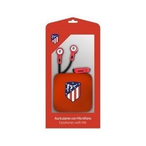 Auriculares de Botón Atlético Madrid Rojo