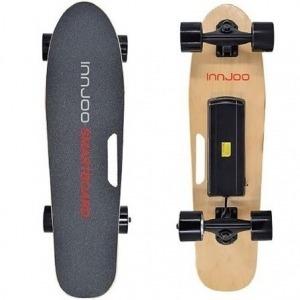 Mini Monopatín Eléctrico Innjoo Electric Small Skate/ con Control Remoto para Adulto/ Niños/ Motor 300W/ 15 km/h/ Negro