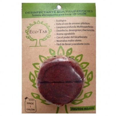 Desinfectante Ecológico en Pastilla Marca Eco-Tab Frutos Rojos