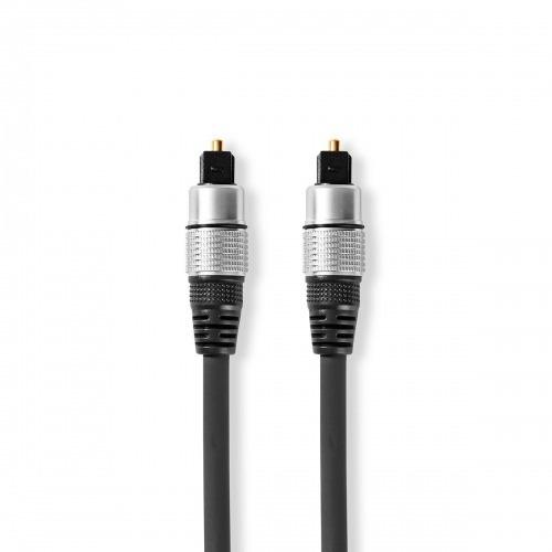 Cable de audio óptico | TosLink Male | TosLink Male | 2.50 m | Redondo | PVC | Antracita | Caja de Plástico