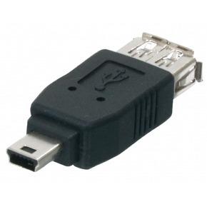 Adaptador USB A Hembra - USB Mini 5-pin Macho