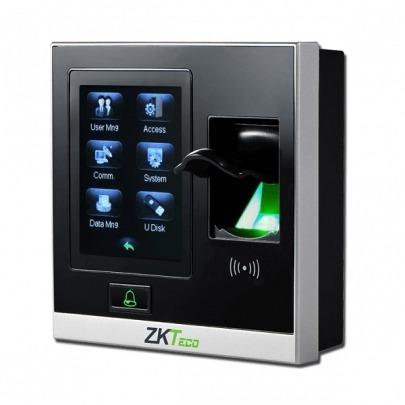 ZK Teco Security - SF400 - IP Based Fingerprint Access Control & Time Attendance - Fingerprint Capacity: 1,500 - TCP/IP, USB Host - Records Capacity: 80,000 - DC 12V/3A - 105 x 105 x 32mm - 2.8 inch r