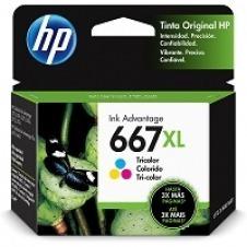 HP - 667XL - Ink cartridge - Tricolor - 3YM80AL