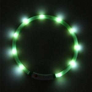Collar Verde Luz LED (Reacondicionado A+)
