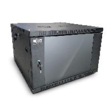 Nexxt Solutions SKD - Armario - instalable en pared - RAL 9005, negro barniz - 6U - 19