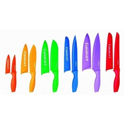 Cuchillos Cuisinart de Acero Inoxidable Multicolor Set de 6 Piezas