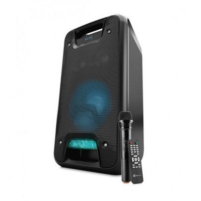 Klip Xtreme KLS-651 - Speaker system - KLS-651 - Black - 1000 WATTS - Micrófono inalámbrico - Efectos de luces - Tiempo de reproducción de 11 horas - Alcance inalámbrico: 10m - Conectividad: Con cable