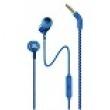 JBL LIVE 100 - Earphones with mic - in-ear - wired - 3.5 mm jack - blue