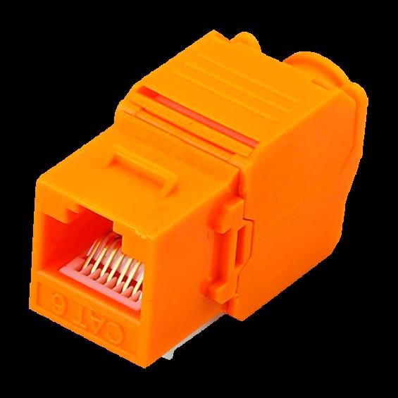 Conector para cables UTP - Conector salida RJ45 - Compatible UTP categoría 5E - Fácil instalación sin necesidad de herramientas - Bajas pérdidas
