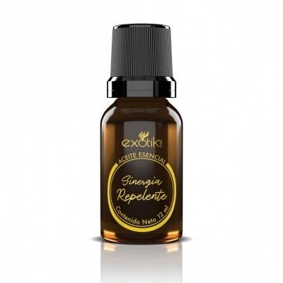 Aceite Esencial con Aroma Sinergia Repelente de Insectos de 12ml Exotik Nat
