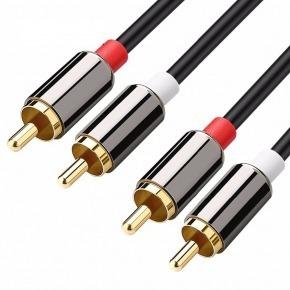 Cable 2xRCA M/M apantallado de 3,00m