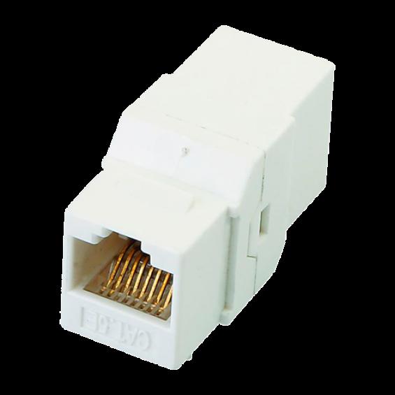 Conector - Empalme para cables UTP - Conector entrada RJ45 - Conector salida RJ45 - Compatible UTP categoría 6 - Bajas pérdidas