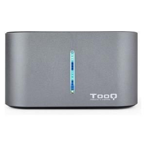 """Dock Station Dual TooQ TQDS-805G 2.5""""-3.5"""" HDD/SSD SATA USB 3.0 Gris"""