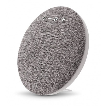 Xtech XTS-620 - Zeppelin Speakers - Gray - Portable speaker with wireless technology and built-in microphone, for hands-free conversations - Wirelessly stream music from up to 33 feet away from the au