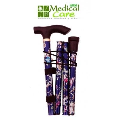 Bastón de Aluminio Diseño Floreado Marca Medical Care ABM