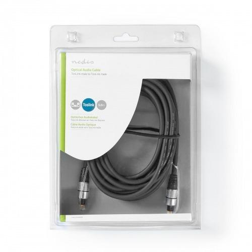 Cable de audio óptico | TosLink Male | TosLink Male | 5.00 m | Redondo | PVC | Antracita | Caja de Plástico