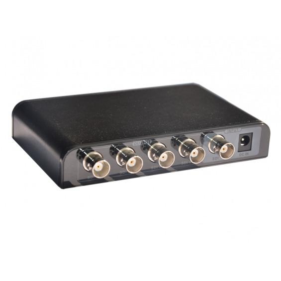 Splitter SDI BNC de 1 entrada a 4 salidas SDI BNC