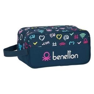 Zapatillero de Viaje Benetton Dot Com Poliéster Azul marino