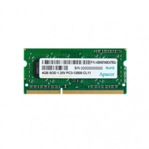 Memoria RAM Apacer 4GB/ DDR3/ 1600 MHz/ 1.35V/ SODIM