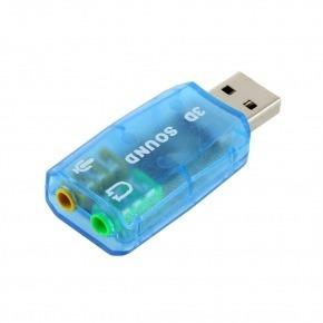 Adaptador de sonido virtual 3D USB 5.1
