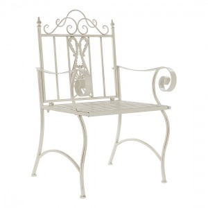 Silla de Jardín DKD Home Decor Metal (63.5 x 52 x 98 cm)
