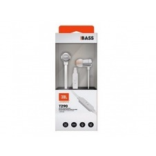 JBL TUNE 290 - Earphones with mic - in-ear - wired - 3.5 mm jack - silver