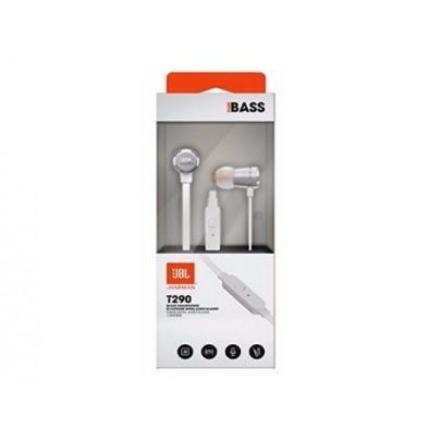 JBL TUNE 290 - Earphones with mic - in-ear - wired - 3.5 mm jack - silver