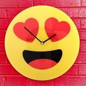 Reloj de Pared Emoticono Corazones Gadget and Gifts